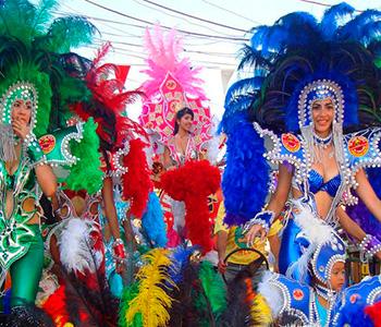 Celebración del Carnaval en Margarita